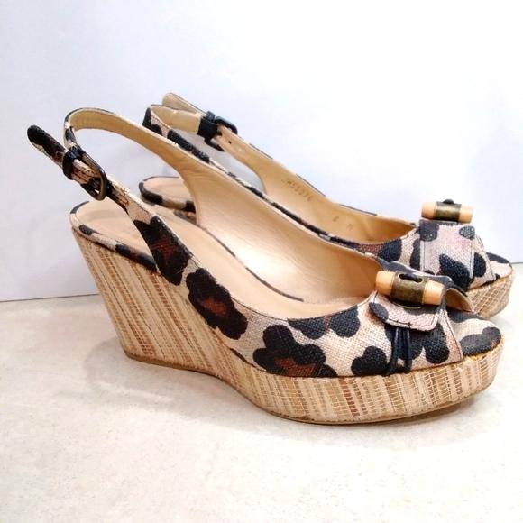 Stuart Weitzman wedge high heel shoes size 8